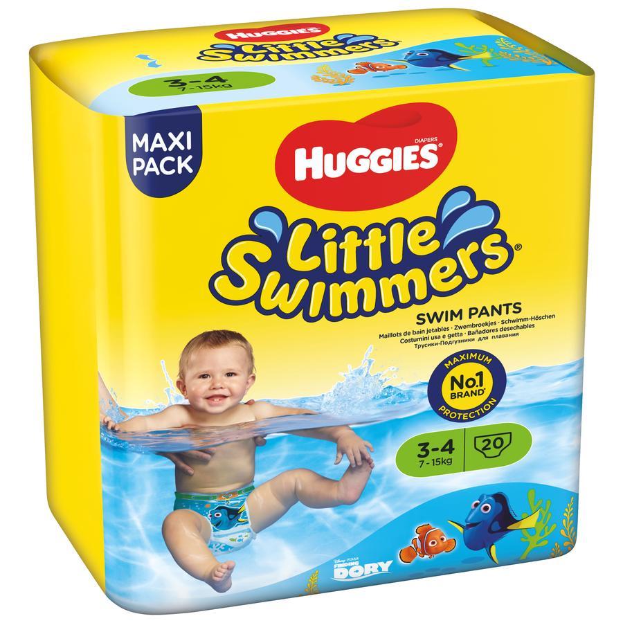 HUGGIES Couches-culottes de bain bébé jetables Little Swimmers T.3-4 4x20 pièces