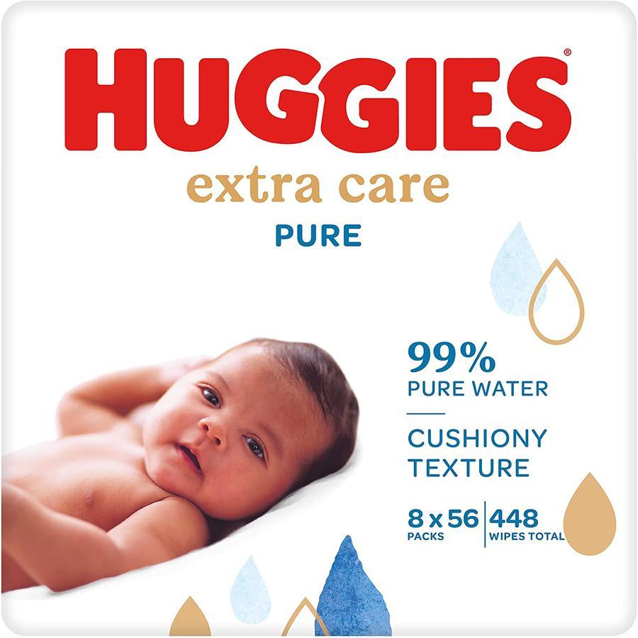 Huggies Baby Feuchttücher Pure Extra Care 8 x 56 Tücher