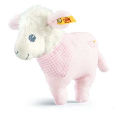 STEIFF Sweet Dreams Lamb Grip Toy, pink