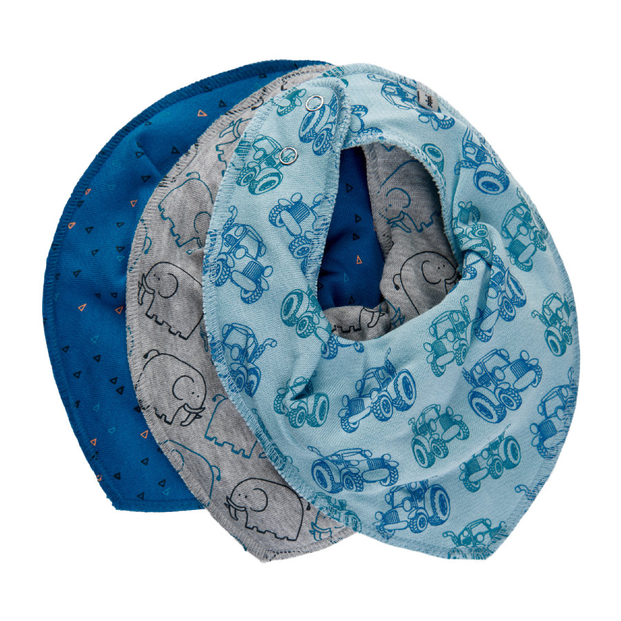 Pippi Bandana 3-pack light dusty blå