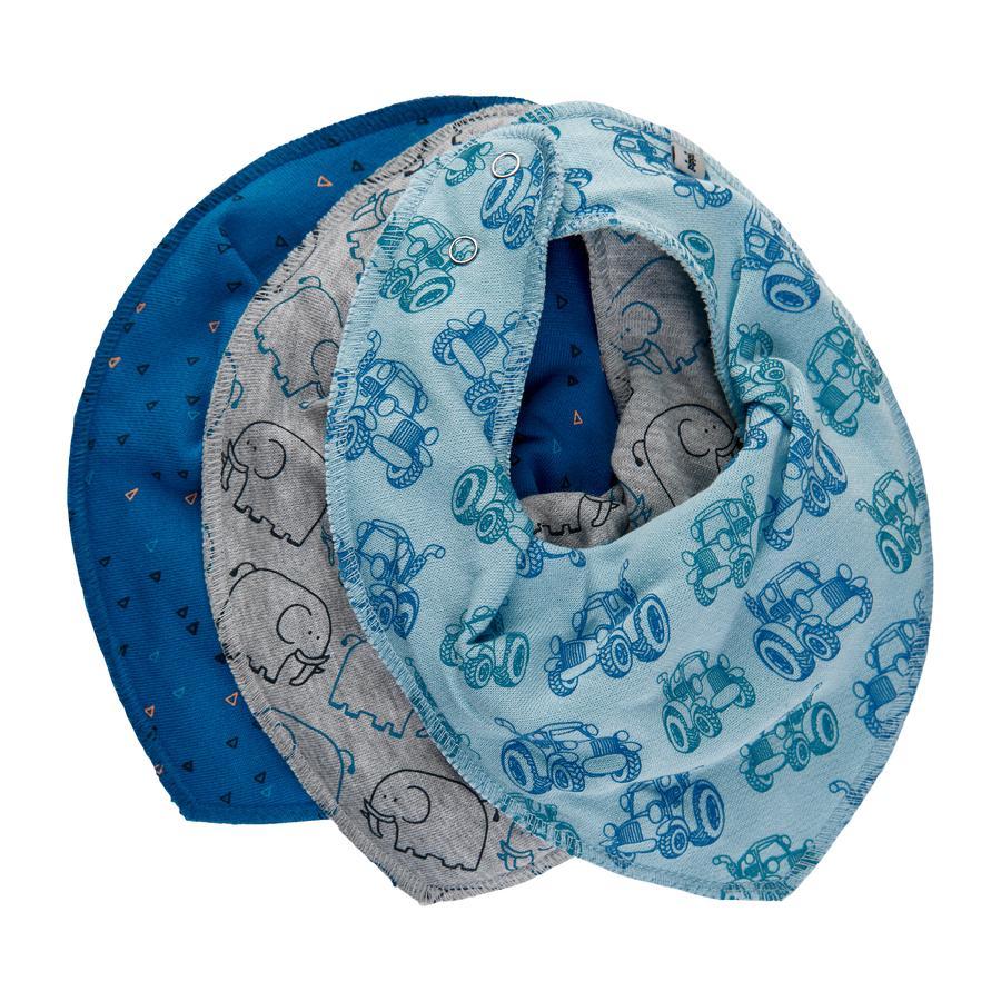 Pippi Bandana 3er Pack light dusty blue