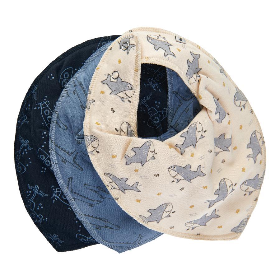 Pippi Bandana 3-pack mörkblå