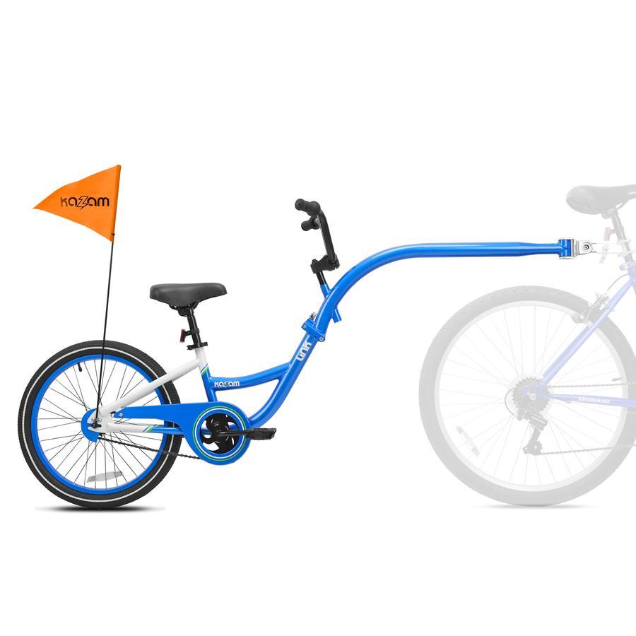 Kazam® Tandem Fahrradanhänger Link white-blue