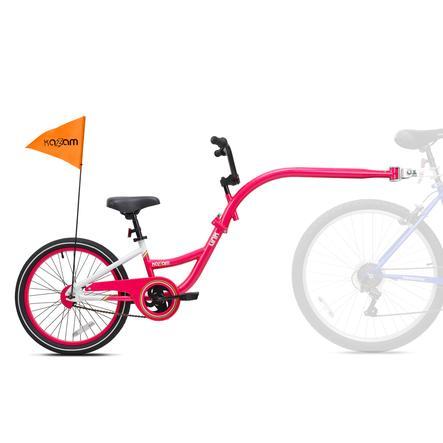 Kazam® Tandem Fahrradanhänger Link white-pink