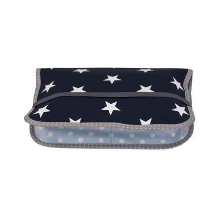 Ullenboom Pochette à langer patchwork bleu/bleu clair/gris