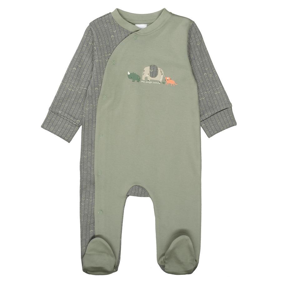 STACCATO Pyjama 1tlg. soft olive gemustert