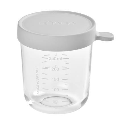 BEABA  Recipiente de almacenamiento de 250 ml de color gris claro