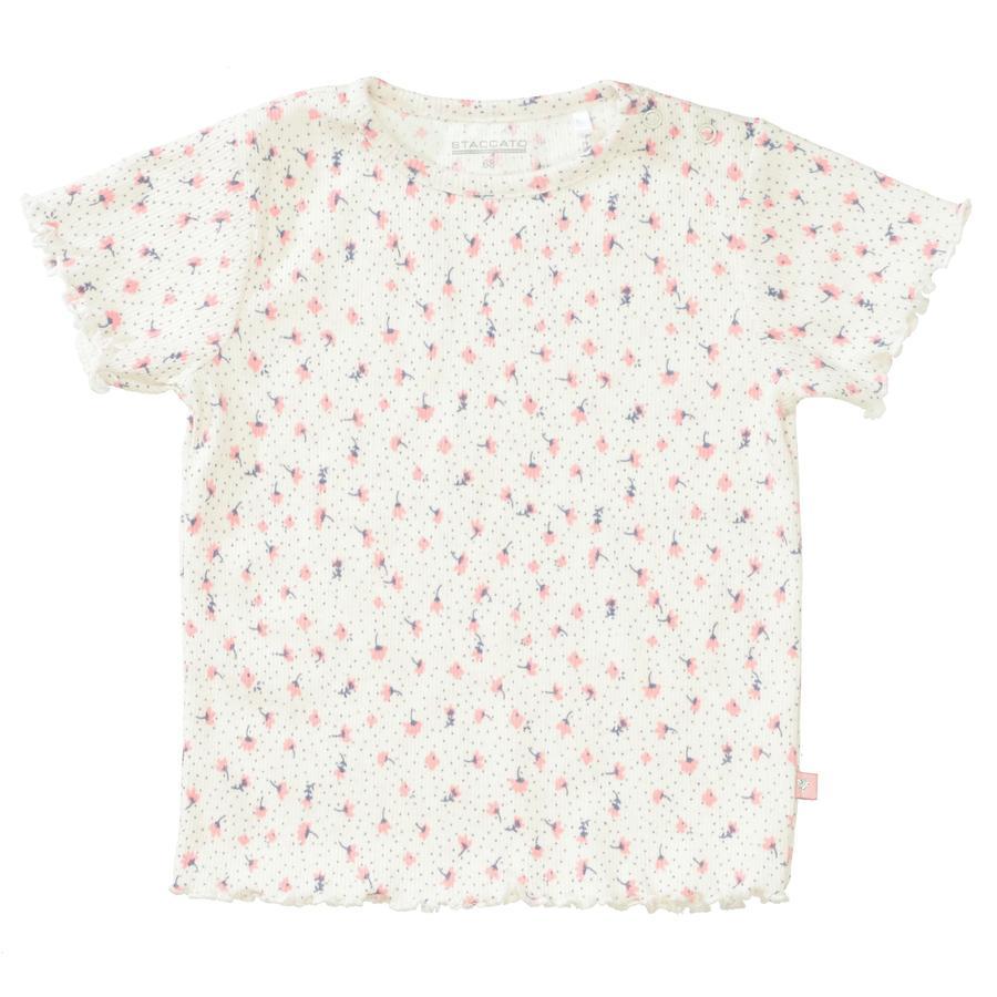 STACCATO T-Shirt cream melange gemustert