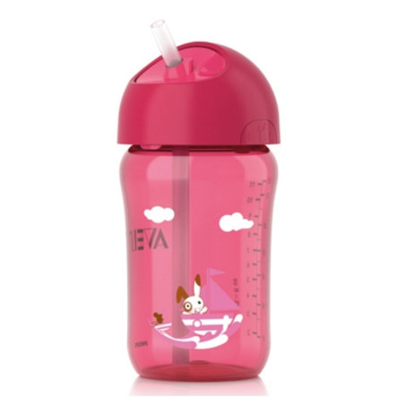 AVENT 340ml Straw Cup - Pink