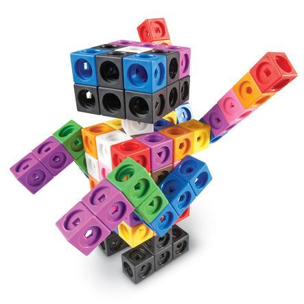Learning Resources ® MathLink plug-in kostky - Big Build er
