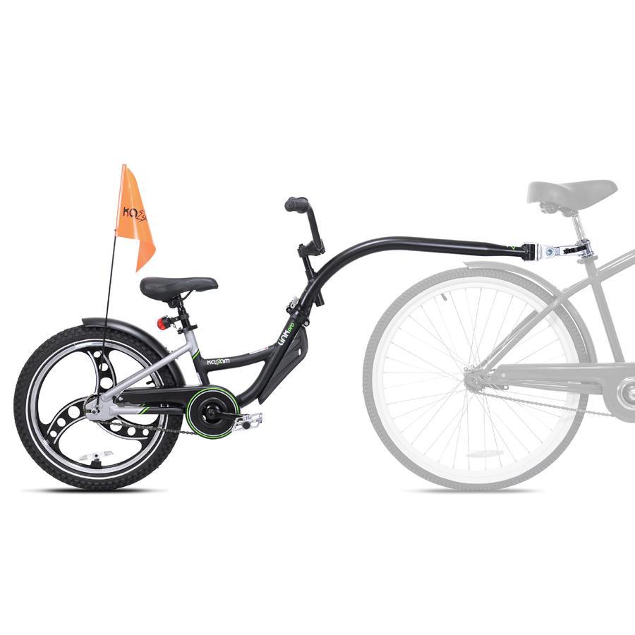 Kazam® Tandem Fahrradanhänger Link Pro black-grey