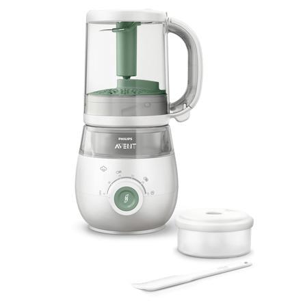 Philips Avent Procesador de alimentos para bebés 4 en 1 Vaporizador y batidora SCF885/01 verde
