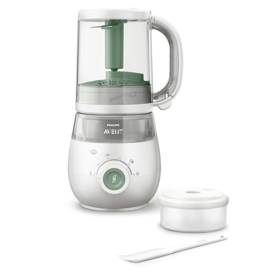 Philips Avent Babynahrungszubereiter 4-in-1 Dampfgarer und Mixer SCF885/01 in grün
