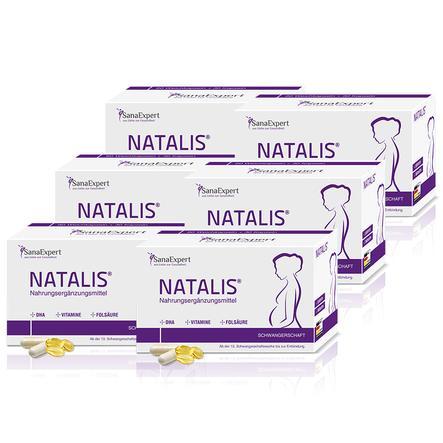 SanaExpert Nahrungsergänzungsmittel Natalis® für die Schwangerschaft 6 x Monatspackung á 90 Kapseln
