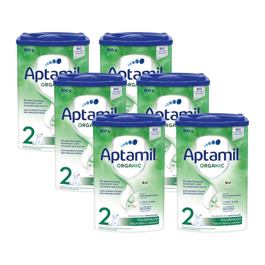 Aptamil Bio Folgemilch ORGANIC 2 6 x 800 g nach dem 6. Monat