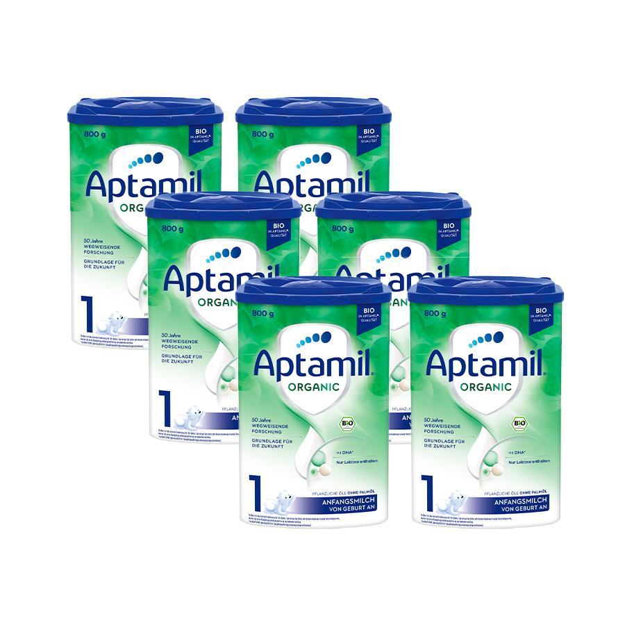 Aptamil Bio Anfangsmilch ORGANIC 1 6 x 800 g von Geburt an