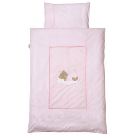 Easy Baby Sängkläder 80x80 Sleeping Bear Rose (415-82)