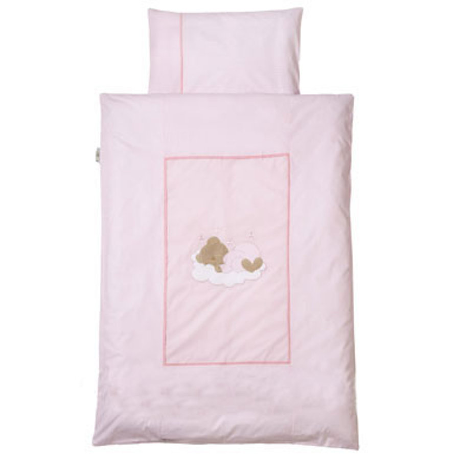 Easy Baby povlečení 80x80cm Sleeping bear rose (415-82)
