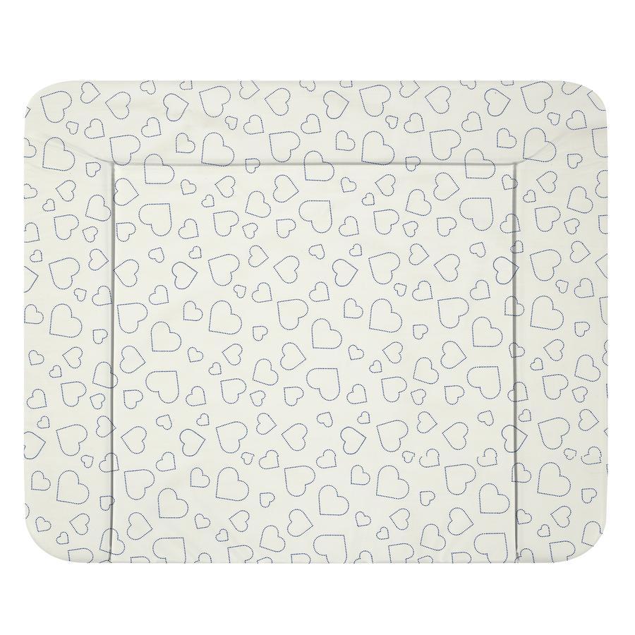 Alvi® puslemåtte Wiko Molly Heart s hvid 85 x 75 cm