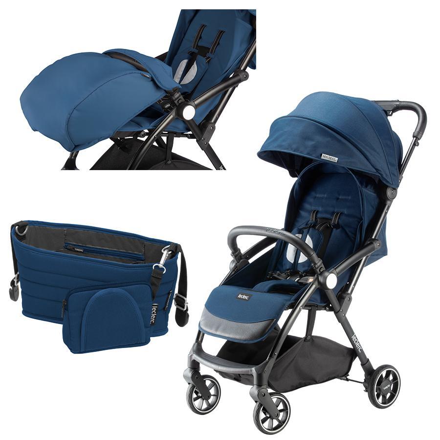 Leclerc Kinderwagen Magicfold Plus inkl. Fußsack Quick und Organizer Easy Quick Blau