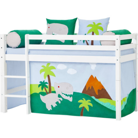 Hoppekids Záclona dinosaurus pro poloviční podkrovní postel 70 x 160 cm
