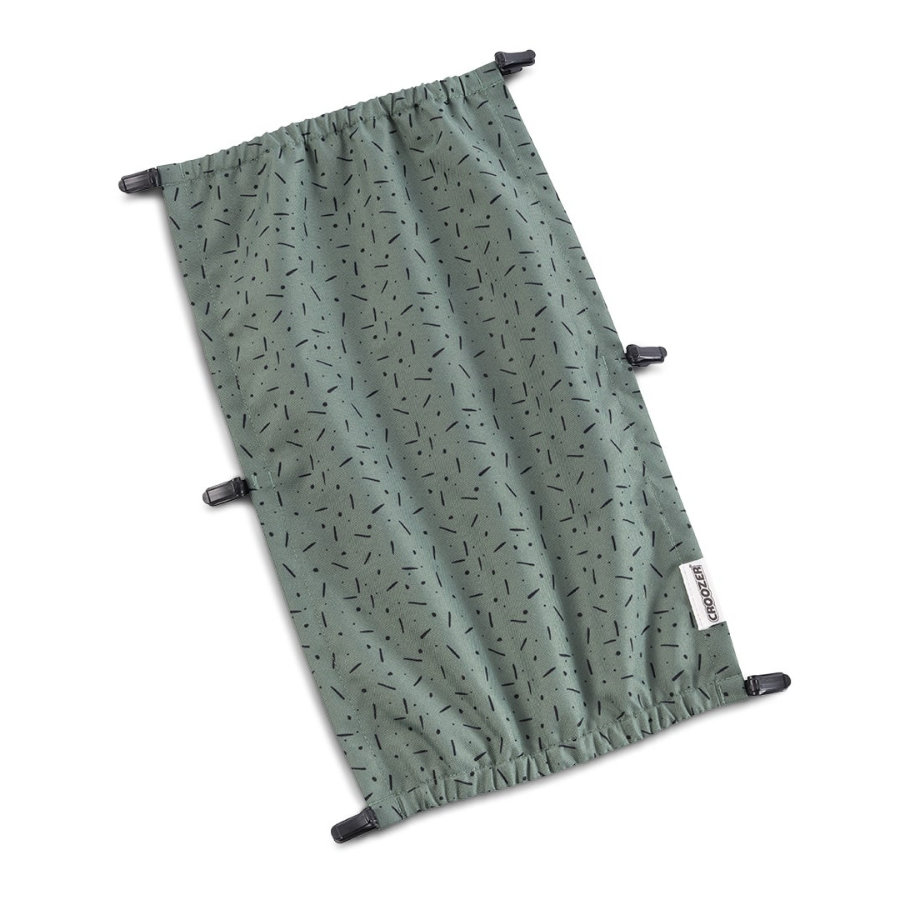 CROOZER Sonnenschutz Jungle green/black für Kid Einsitzer