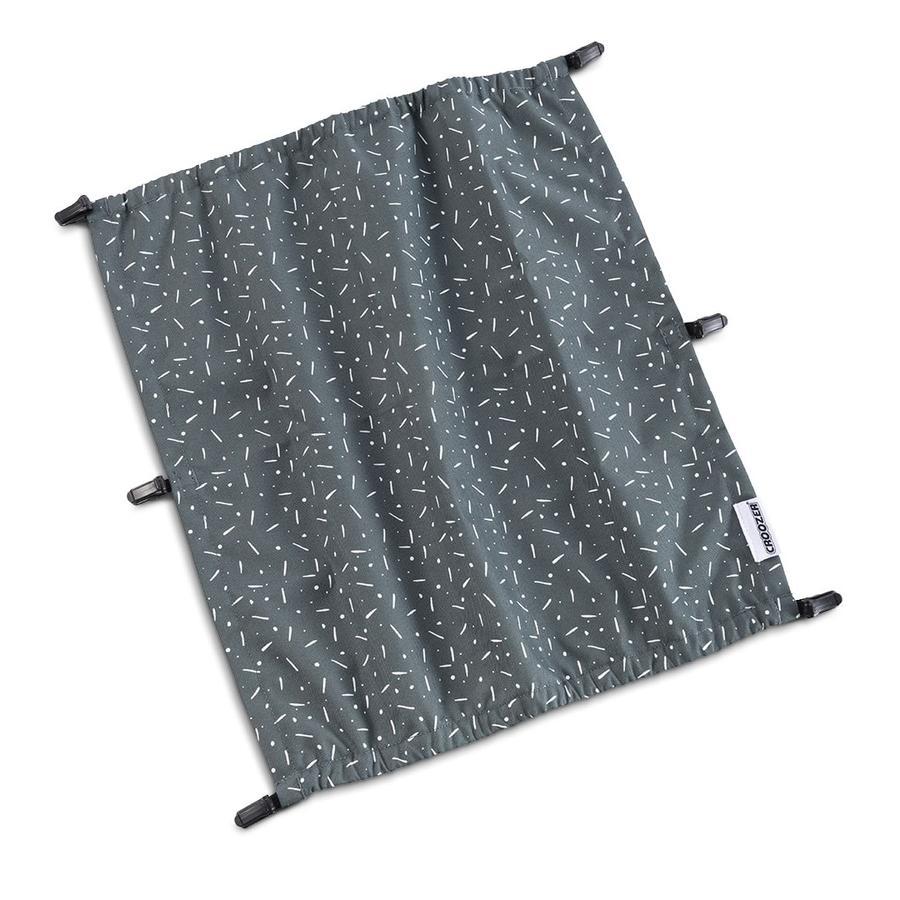 CROOZER Sonnenschutz Graphite blue/white für Kid Zweisitzer