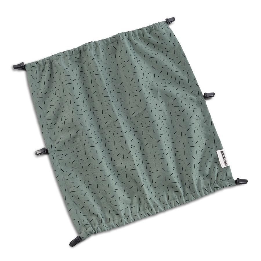 CROOZER Slunečník Jungle green / black pro dětskou dvoumístnou sedačku