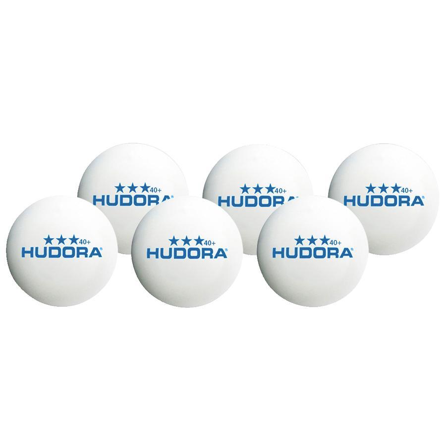HUDORA® Tischtennisball*** 40+, 6 Stück