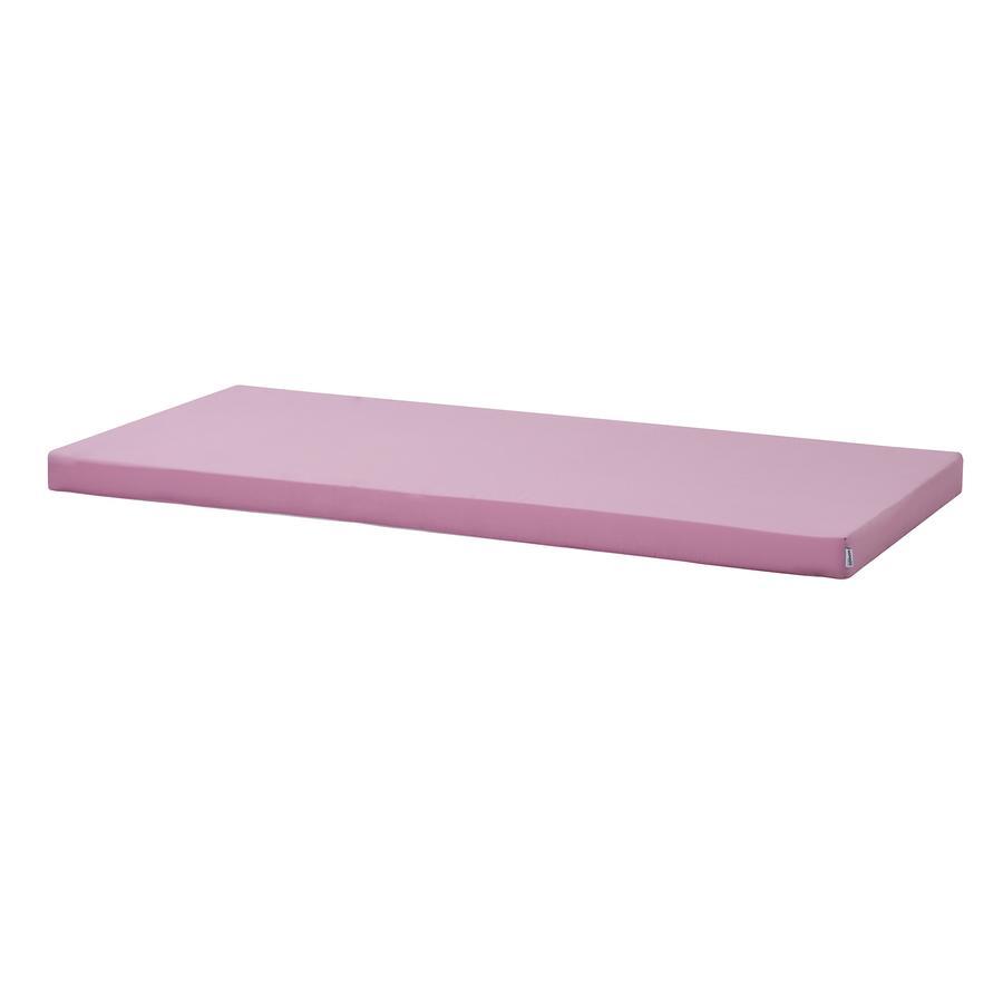 Hoppekids Kaltschaummatratze mit Bezug Fuchsia Pink 90 x 200 cm