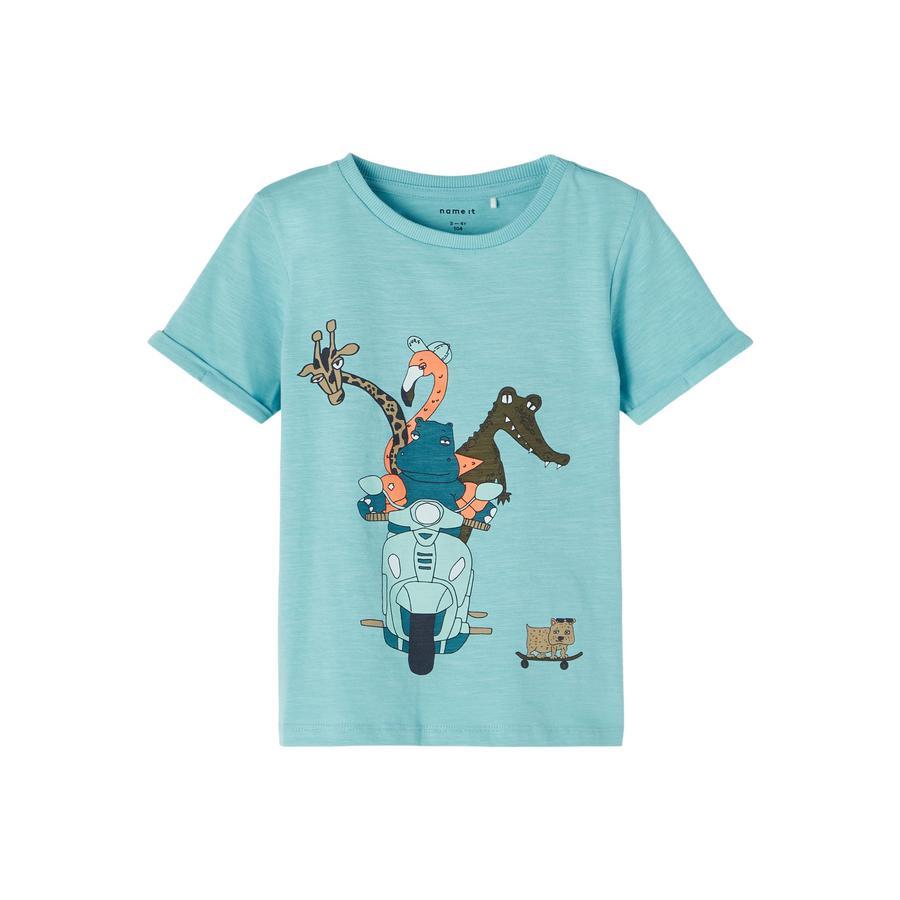 name it T-Shirt Nmmjohan Aqua