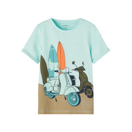 name it T-Shirt Nmmjohan Tint bleu