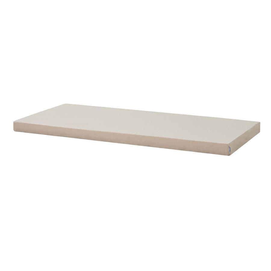 Hoppekids Kaltschaummatratze mit Bezug Frappé Sand 70 x 160 cm