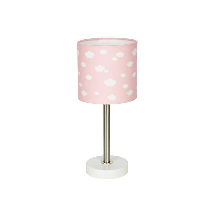 LIVONE Bordlampe Happy Style til børn Cloud pink/hvid