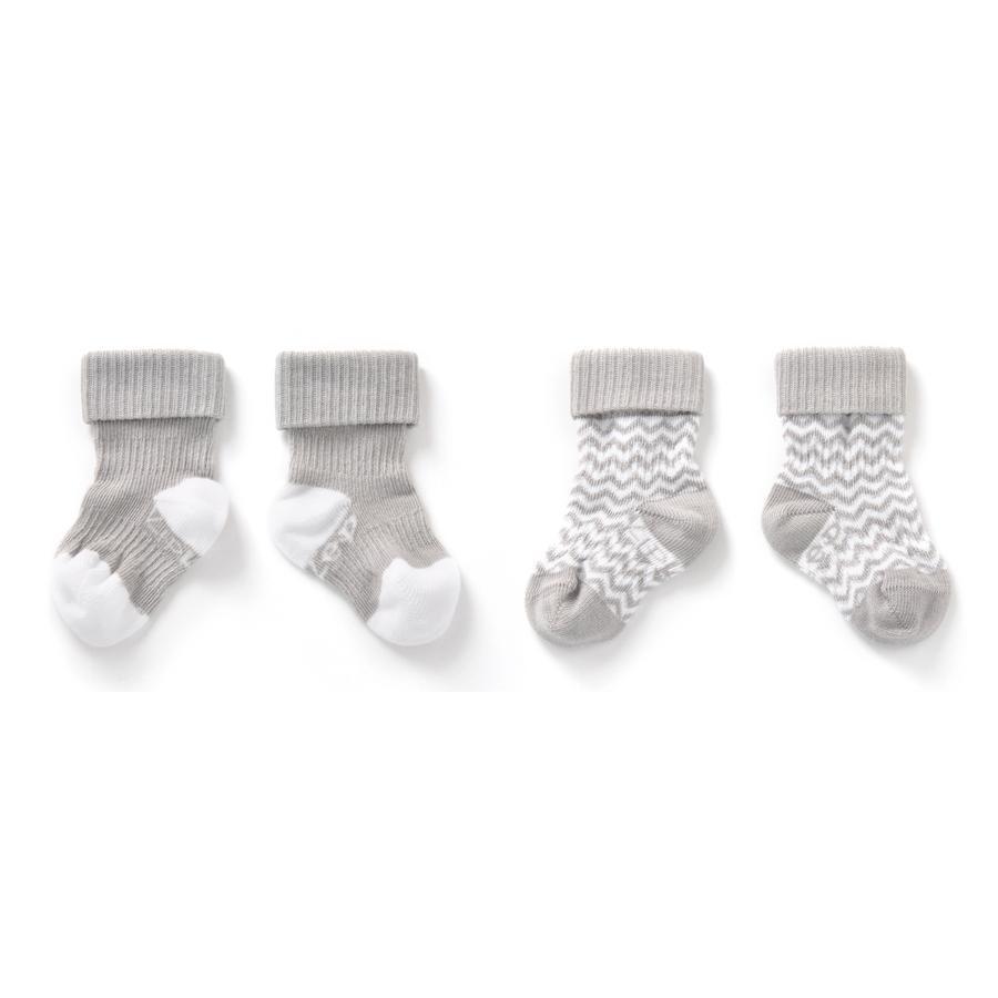 KipKep Stay-On Socken 2er-Pack Ziggy grey