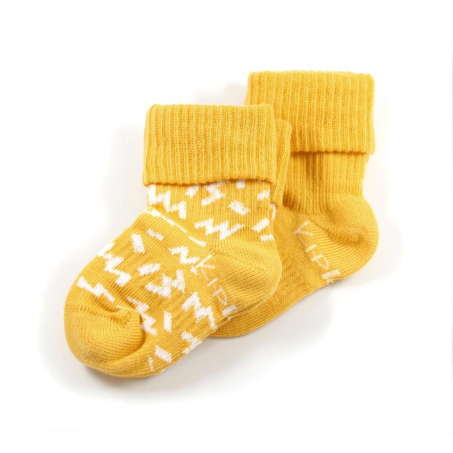 KipKep Stay-On Socken 2er-Pack Memphis Yellow