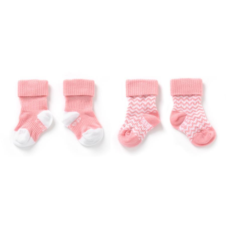 KipKep Stay-On Socken 2er-Pack Ziggy Pink