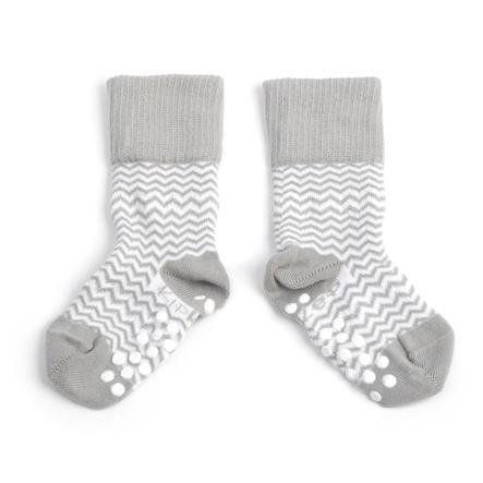 KipKep Stay-On Socken Antislip Ziggy grey 12 - 18 Monate