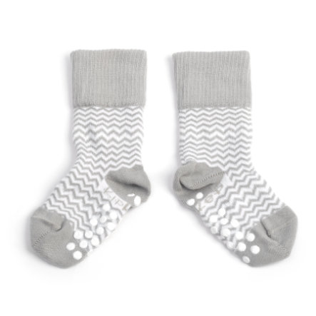 KipKep Stay-On Sokken Antislip Ziggy grijs 12 - 18 maanden