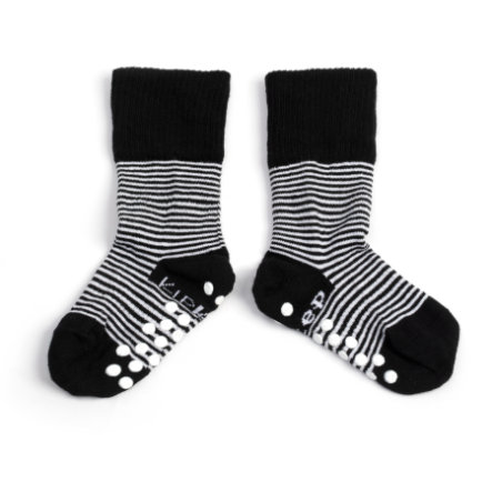 KipKep Stay-On Socks Antislip Black 12 - 18 måneder
