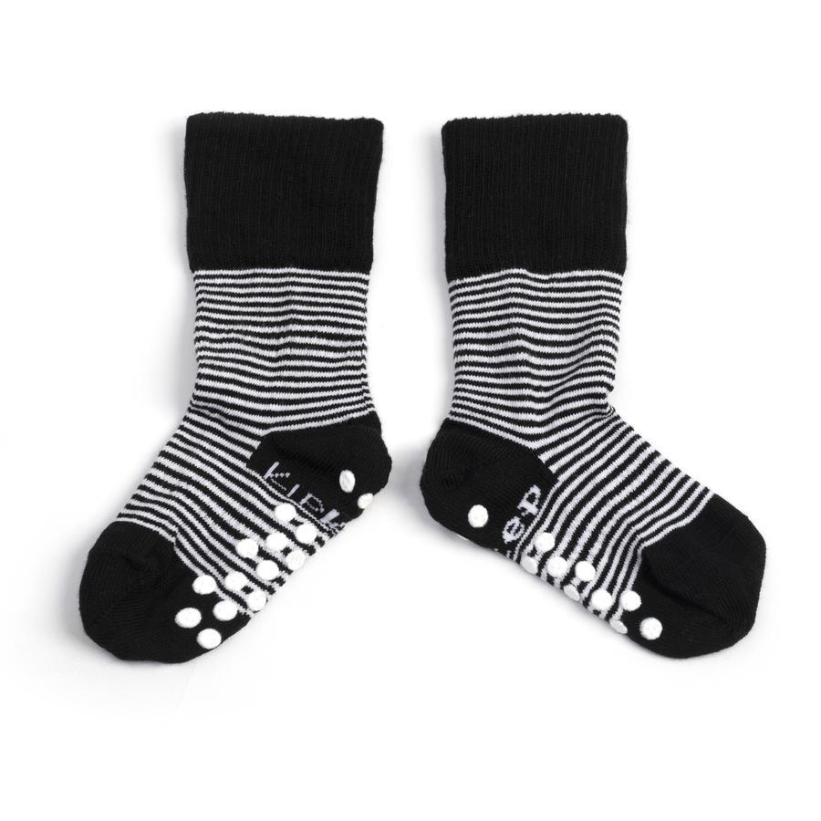 KipKep Stay-On Socken Antislip Black 12 - 18 Monate