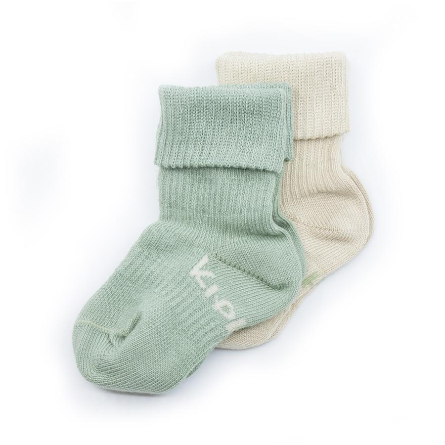 KipKep Stay-On Socken 2er-Pack Calming Green