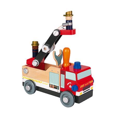 """Janod® BRICO'KIDS Bausatz """"Feuerwehr"""" (Holz) rot"""