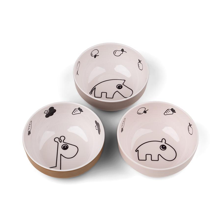 Done by Deer™ Yummy mini Schüssel 3-er Pack Deer friends in rosa