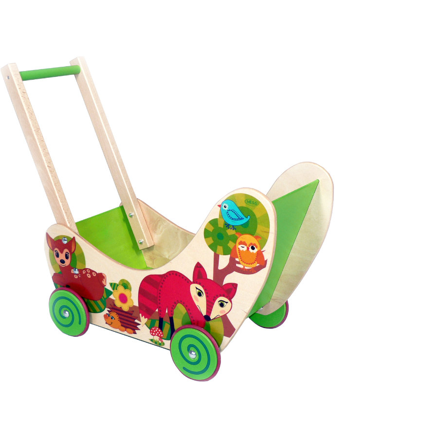 HESS Doll's Pram - Forest Animals 31169