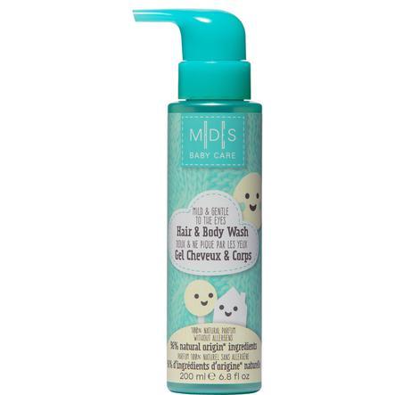 MADES BABY CARE, Haar & Körper Shampoo, mild und sanft für die Augen, 200 ml