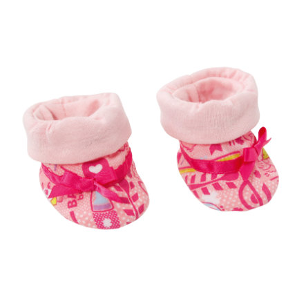 Zapf Creation BABY born - Baby Schuh Kollektion, Rosa gemustert