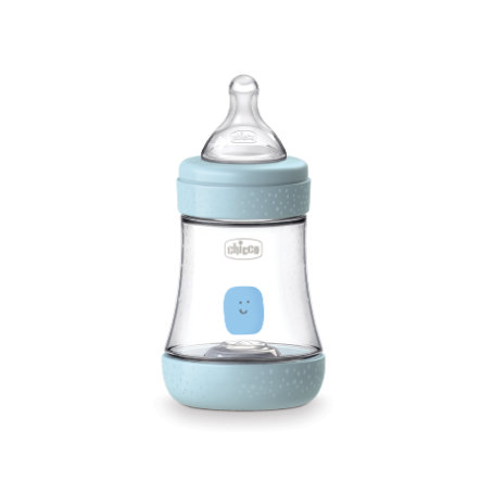 chicco Babyfläschchen Perfect Silikon, 150ml, Nomaler Fluss, boy, 0M+