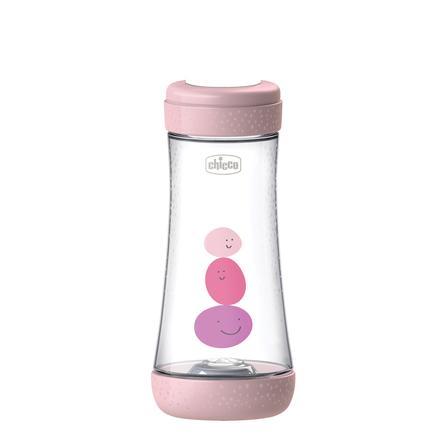 chicco Dětská láhev Perfect Silicone, 300 ml, rychlý průtok, dívka, 4M+