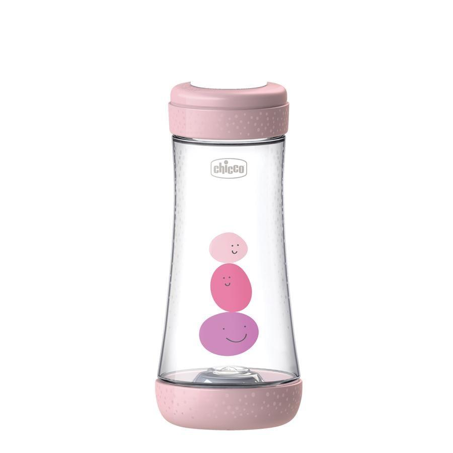 chicco Babyfläschchen Perfect Silikon, 300ml, Schneller Fluss, girl, 4M+